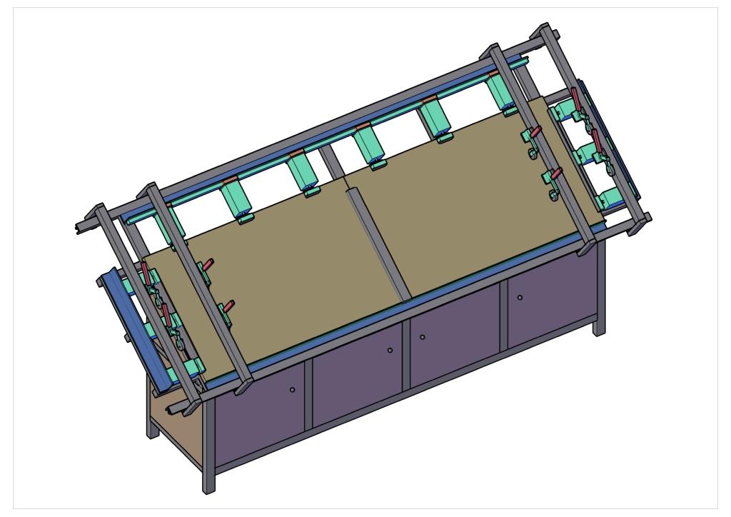 Пресс для сборки фасадов ДР_большой_V1 Модель 3Д